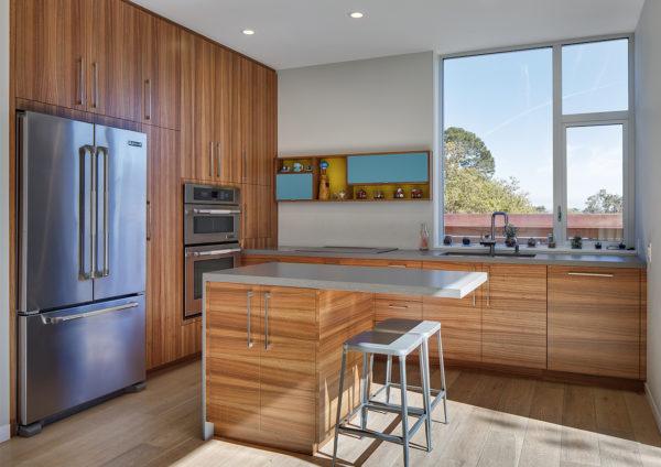 Островное расположение мебели в интерьер кухни в современном стиле