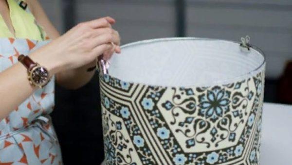 Ткань натягивают на каркас