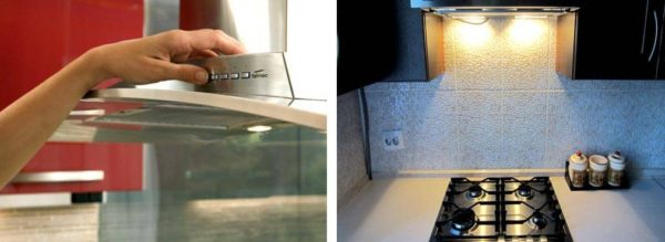 Современные вытяжки оснащены удобной панелью управления и подсветкой