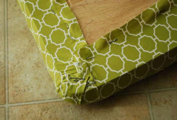 Крепление ткани на скобы