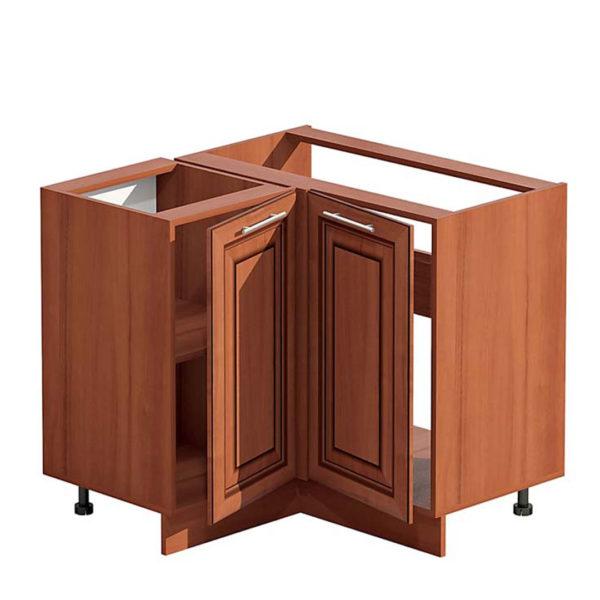 Конструкция углового шкафа со вставками