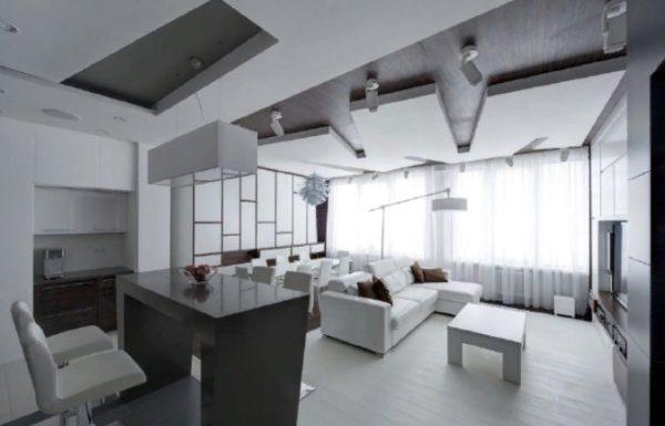 Потолок многоуровневый контрастный