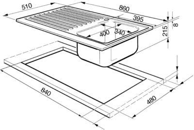 Конструкция и размеры типовых моек для кухни