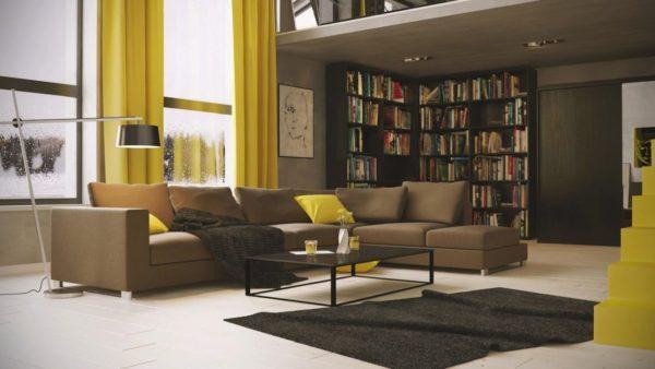 Модели темного цвета желательно использовать в просторных комнатах
