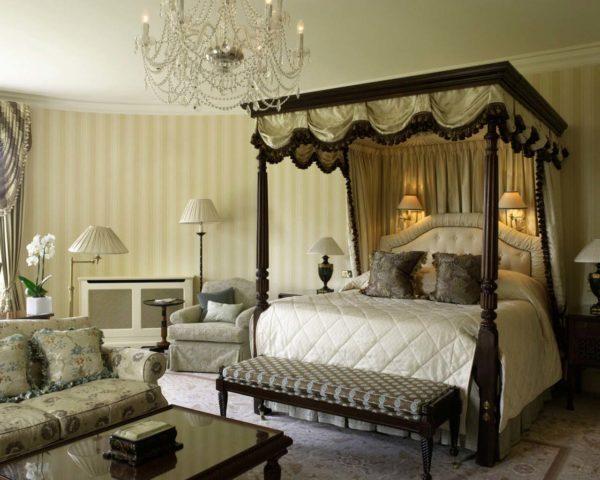 Английский стиль в интерьере спальни
