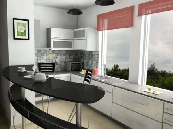 Барная стойка для кухни – оригинальный предмет интерьера, который подойдет даже для небольших помещений