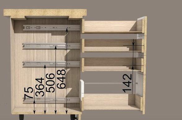 Конкретные расчеты установки будут зависеть от параметров ящика и крепежных элементов, подобранных к нему