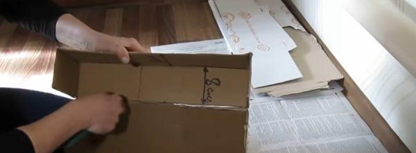 Детали вырезаются из коробки