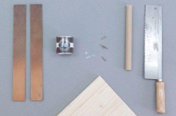 Инструменты и материалы для изготовления подноса