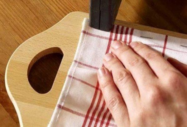 Крепление ткани по бокам