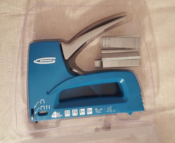 Мебельный степлер и скобы