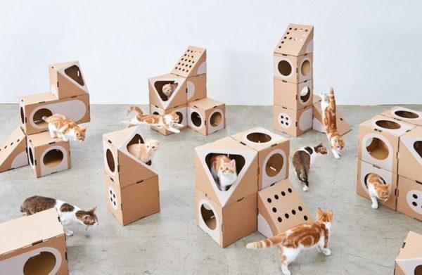 Модульные домики из картона