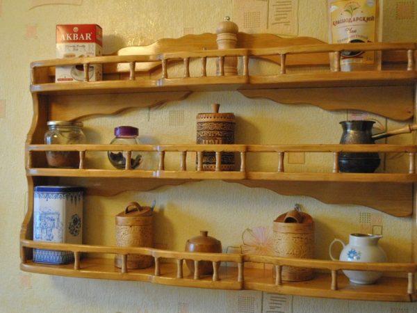Настенные полки для кухни