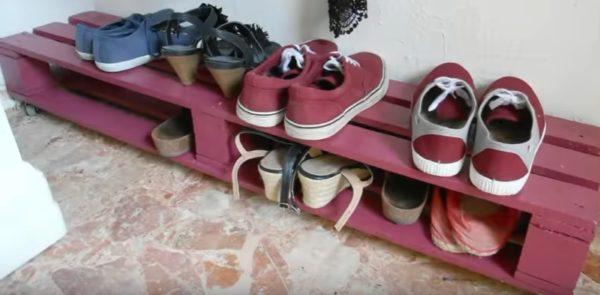 Обувница из паллет