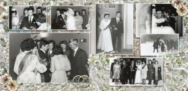 Оформление семейного альбома, фото свадьбы родителей