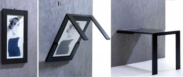 Оригинальный откидной столик с картиной