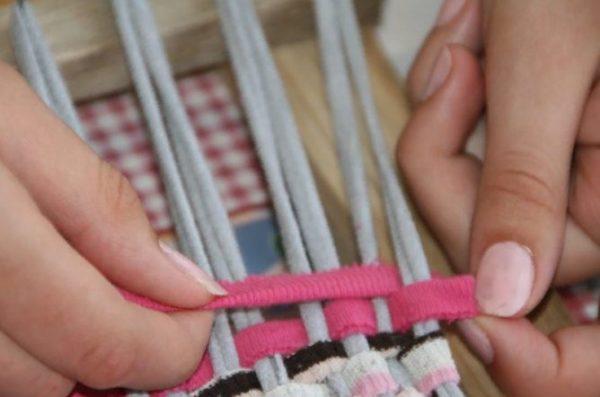 Плетение с края