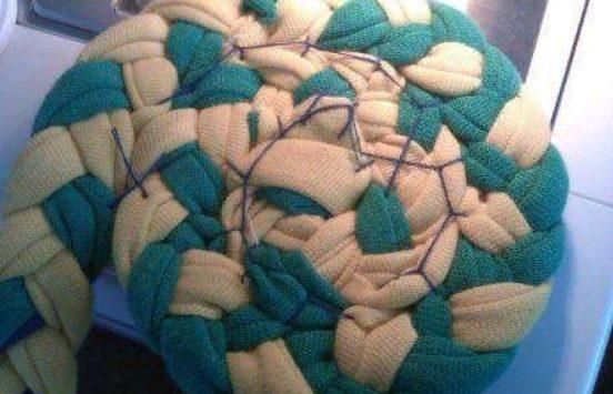 Сшивание косички