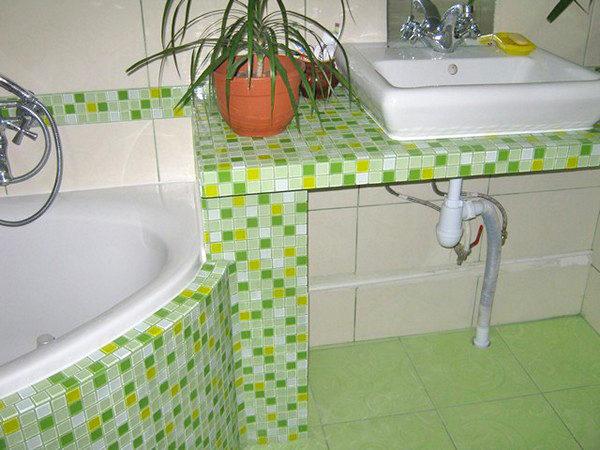 Столешница в ванную своими руками