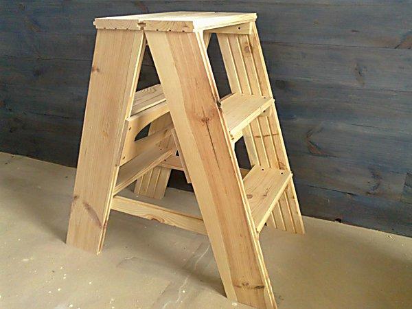 Стул-стремянку своими руками чертежи с размерами простой модели из дерева Как сделать деревянную лестницу-трансформер