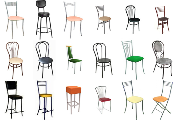 Стулья на металлокаркасе (61 фото): стулья на металлическом каркасе с мягким сиденьем и спинкой, изделия из металла, железная мебель