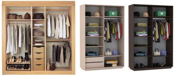 Вне зависимости от комплектации шкафа-купе, важно учитывать общие правила расположения вещей в нем