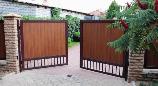 Ворота своими руками: чертежи, фото и видео