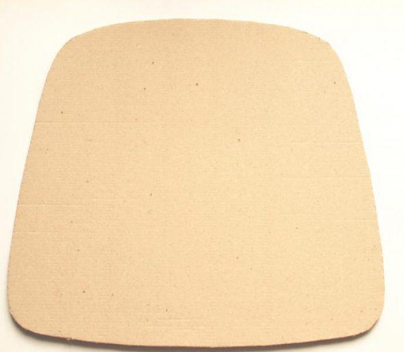 Выкройка из плотного картона точно по форме сидения стула