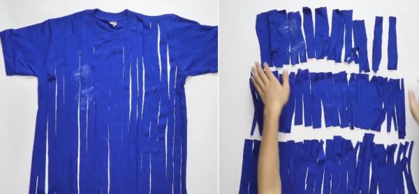 Заготовки из старой футболки