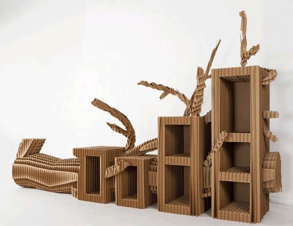 Мебель из картона шаблоны