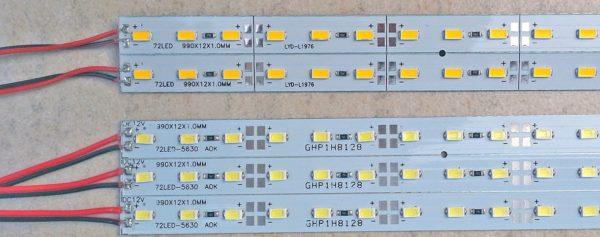 Диодные ленты различаются цифровыми обозначениями в зависимости от типа