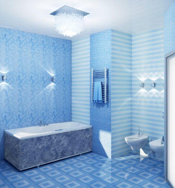 Панели ПВХ часто используют в отделке ванных комнат