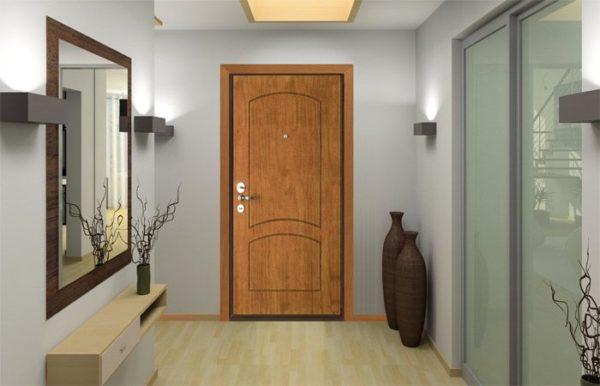 Входная дверь {amp}quot;Стал{amp}quot; 35 с панелями {amp}quot;Ламинат{amp}quot;