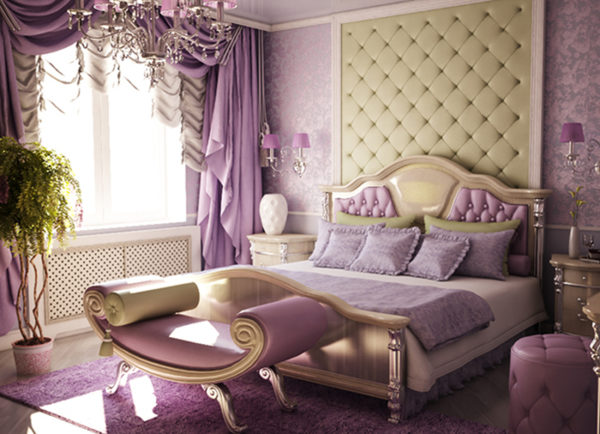 Стиль модерна в спальне