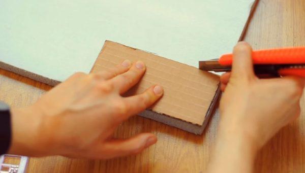 Шаблон из плотного картона