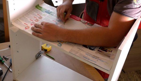 Перенос точек сверления и вырезания с шаблона