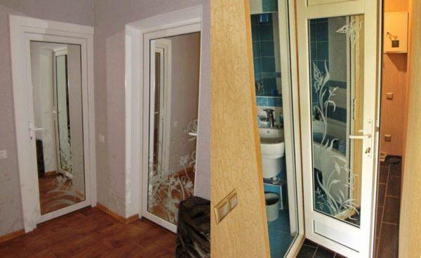 Металлопластиковые двери в интерьере