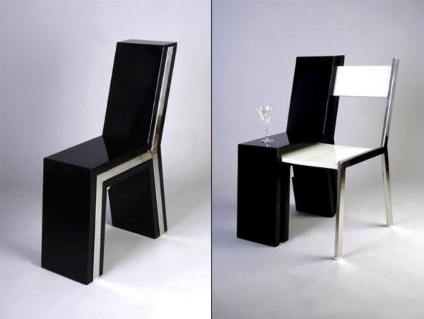 Компактный при хранении и удобный при использовании стол-стул