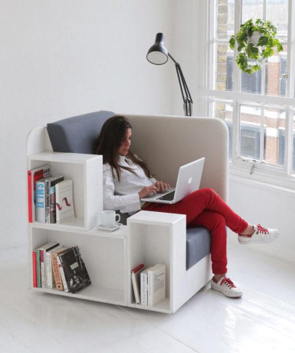 Удобное кресло с функций хранения