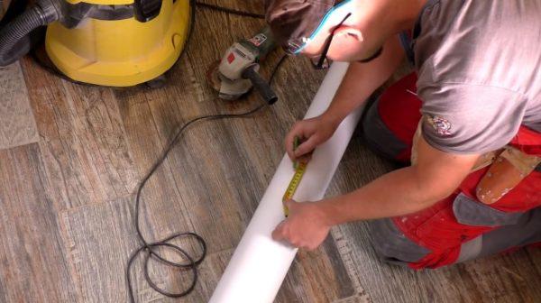 Перенос размеров на трубу