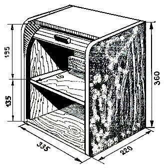 Схема двухэтажной хлебной емкости
