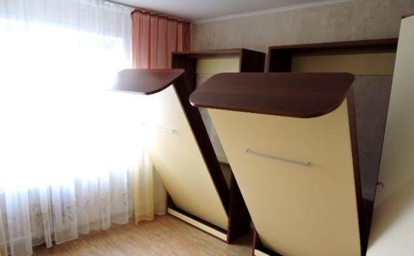 Открывание шкафа-кровати