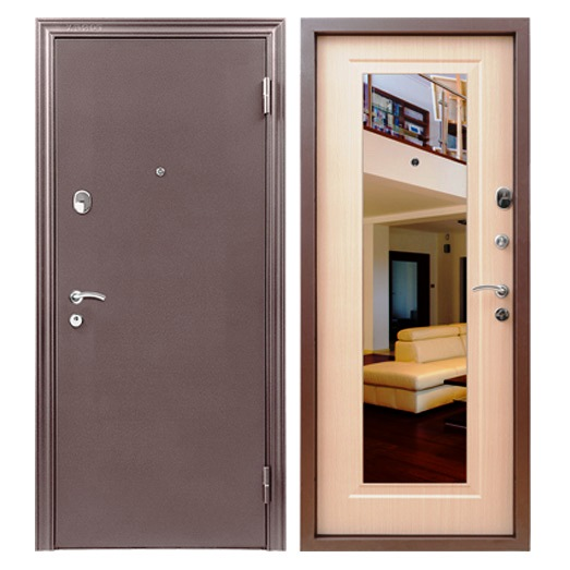 Входная зеркальная дверь