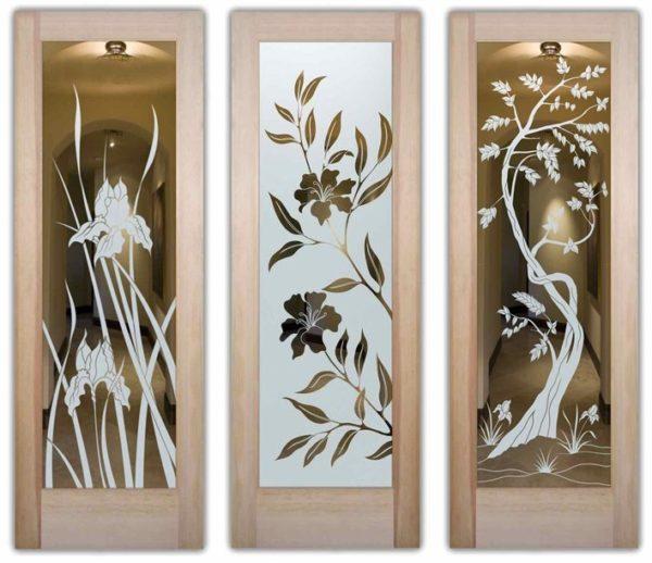 Матовое зеркало с рисунком