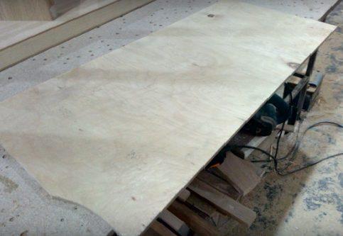 Исходный материал – остатки деревянного листа