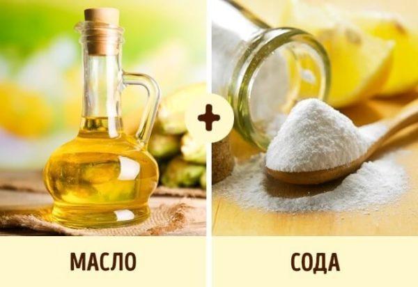 Вместо уксуса масло можно соединять с содой