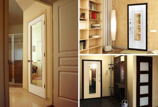 Зеркальные двери зрительно расширяют помещение