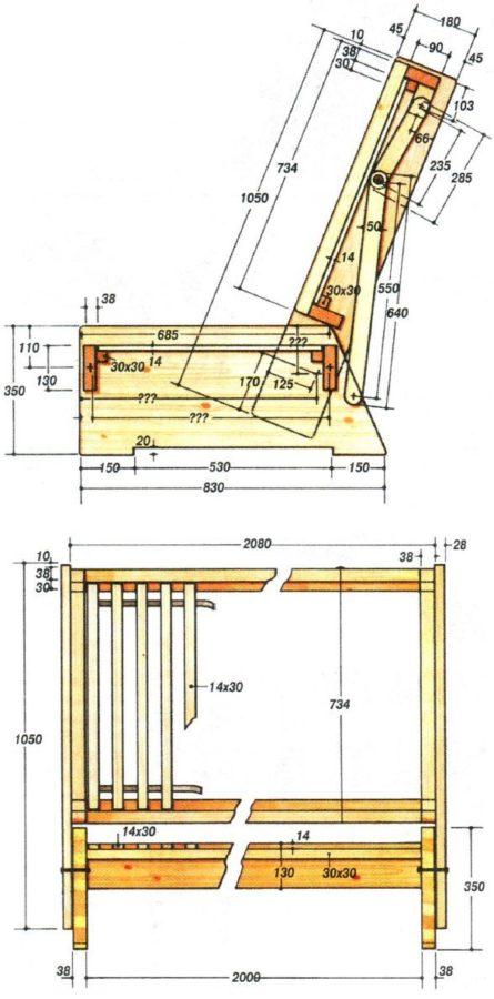 Размеры и чертежи для сборки изделия