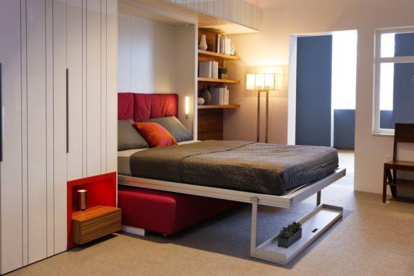 Интерьер современной гостиной-спальни