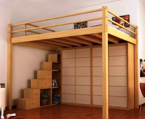 Шкаф-купе под спальным местом